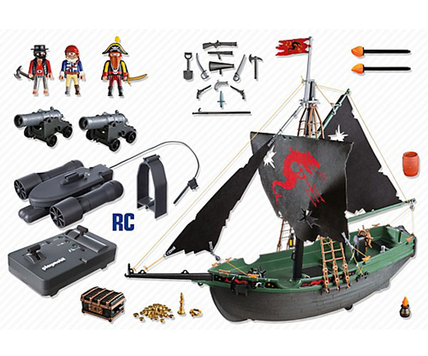 5238 Barco Pirata Con Motor Submarino Rc Mundoplay